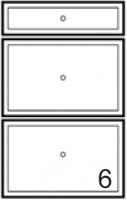 façade 1T 2C MIAMI WHITE blanc h. 11,8 + 27,9 + 27,9 cm lar...