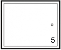 façade tiroir et relevable MIAMI WHITE blanc h. 37,3 cm lar...