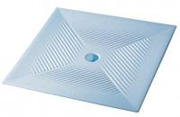 receveur carré extraplat à encastrer Vela 80 x 80 cm...