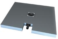 receveur carré Fundo Plano - DN 40 - dim. 900 x 900 x 65 mm...