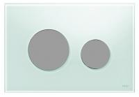 plaque de déclenchement TECEloop Glas double touche - verre...