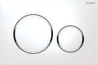 plaque de déclenchement Sigma20 double touche - blanc / chr...