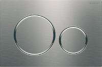 plaque de déclenchement Sigma20 double touche - acier inox...