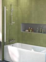 pare-baignoire mobile Connect - arrondi 80 - H 1400 - verre ...