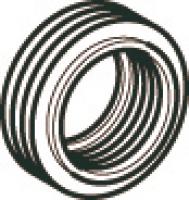 ligature pour cuvettes normalisées - Ø 44/55 - blanc...