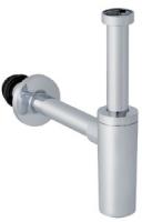 siphon lavabo ABS chromé brillant - débit 0,7 L/s - 33x42 ...