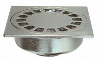 siphon de sol laiton chromé - 100x100 - sortie verticale Ø...