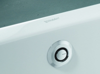 vidage auto. baignoire Uniflex PUSH Control avec câble et s...