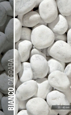 Galet d co blanc granulom trie 20 40 mm demi bigbag 500 kg for Big bag galets decoratifs