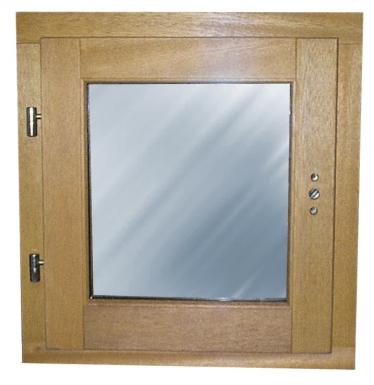 Fen tre bois 1 vantail gauche 45 x 40 cm for Fenetre 40x40