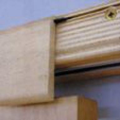 Kit avec traverse bois pour porte coulissante en applique sur une cloison - Kit habillage porte coulissante ...
