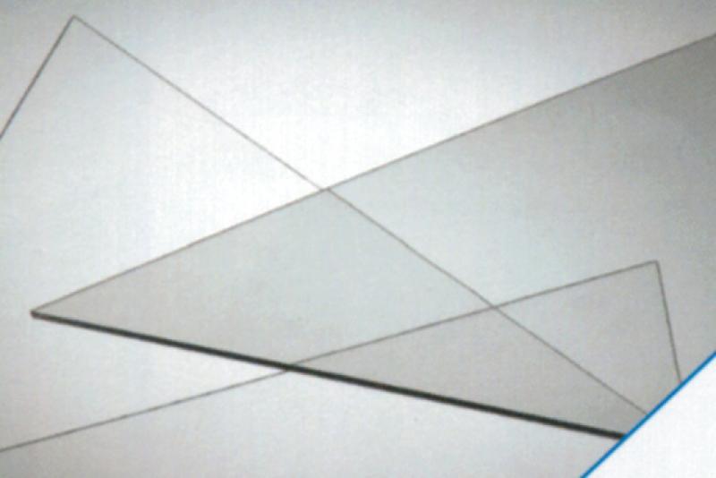robexglas lisse transparent p 2 mm panneau 150x50 cm. Black Bedroom Furniture Sets. Home Design Ideas